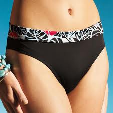 Bikini bottom turnover band brown size24