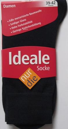 ND ladies Die Ideale Sock navy 39-42
