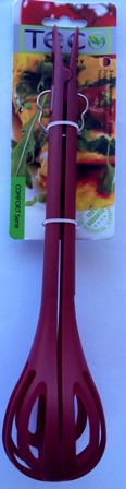 2 in 1 plastic whick tongs burgundy