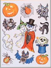 BH Halloween window stickers
