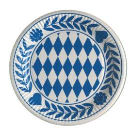 10 paper plates 23 cm Bavarian Blue (20)