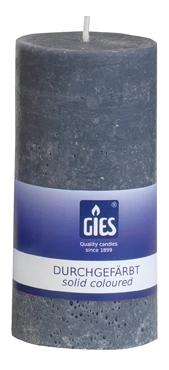 Gies Landhaus pillar candle grey 120×58