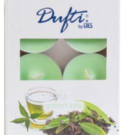 Gies 6 maxi tealight green tea