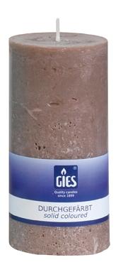Gies Landhaus pillar candle taupe 140×68