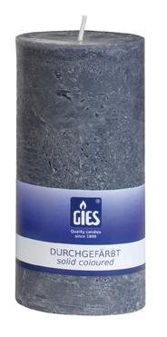 Gies Landhaus pillar candle grey 140×68