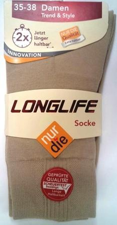 ND Ladies longlife sock beige 35-38