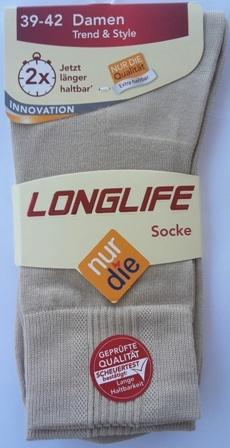 ND Ladies Longlife sock beige 39-42