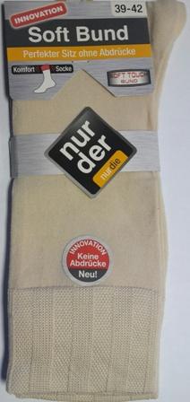 ND Gents Comfort Sock Beige 39-42