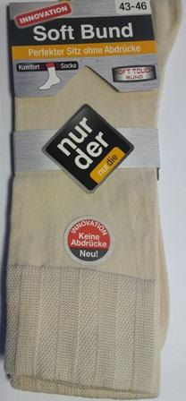 ND Gents Comfort Sock Beige 43-46