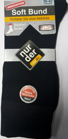 ND Gents Comfort Sock Black 39-42