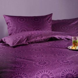 Duvet set satin single purple