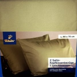 Pillow cases 2  satin  green AT/CZ
