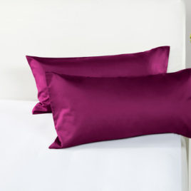 Pillow case  2pcs  satin  berry  DE