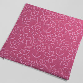 decorative cushion cover  floral  pink