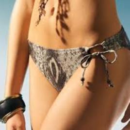 Bikini bottom animal print size 40