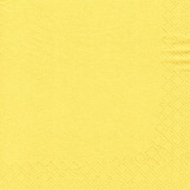 20 Napkins 3ply 33cmx33cm yellow (15)