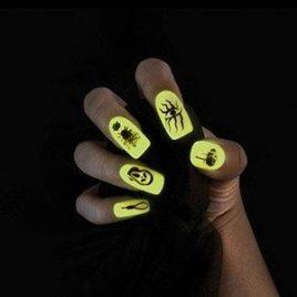Halloween self adhesive fingernails