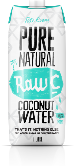 RAW C Coconut water natural 1 litre (12)