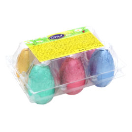 Egg box with milk chocolate eggs 108g