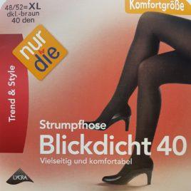 ND blickdicht 40D dkl brown 48/52 XL