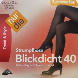 ND blickdicht 40D black 48/52 XL