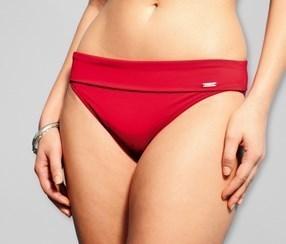 Bikini slip red turnover waistband 18