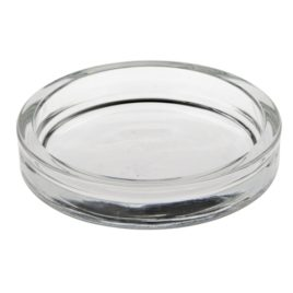 Candle hold.glass round 100x20m clear(24