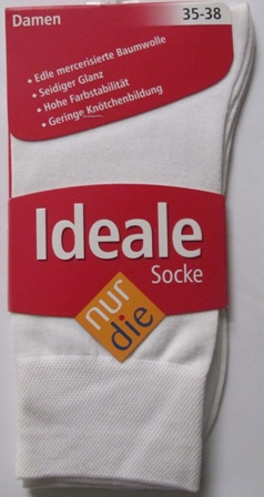 ND ladies Die ideale Sock white 35-38