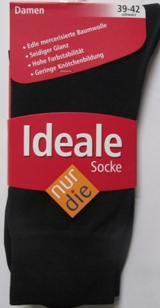 ND ladies Die ideale Sock black 39-42