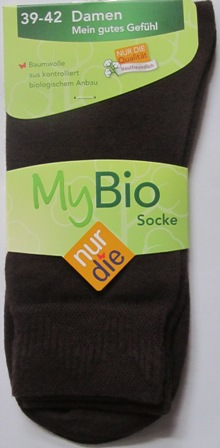 ND Ladies My Bio Sock brown 39-42