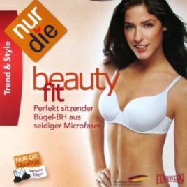 ND Bra Beauty fit underwire white 75 A