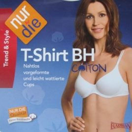 ND Cotton Tshirt Bra White 85B