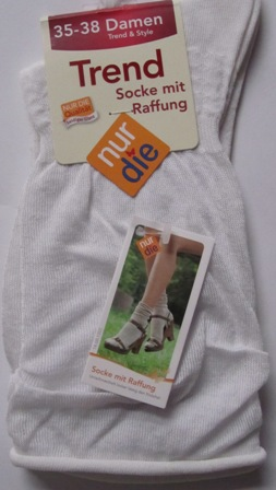 ND Trendy Slouch Top Socks white 35-38