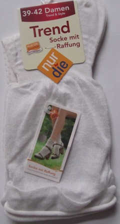 ND Trendy Slouch Top Socks white 39-42