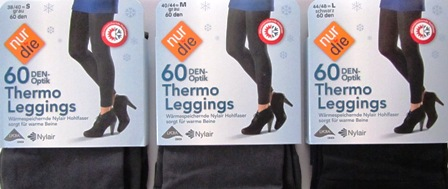 ND Thermo Leggings 60d black/grey s/m/l