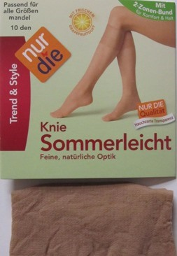 ND la summer knee 10d almond 1 size