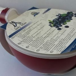 berry Bowl/Colander 2in1 burgundy