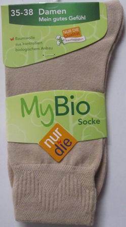 ND Ladies My Bio Sock beige 35-38