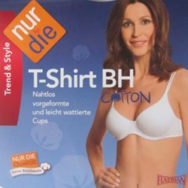 ND Cotton Tshirt Underwire Bra White 75B