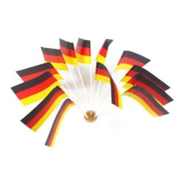 PS 10 German paper flags 12×22 cm
