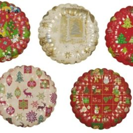 PS 2 paper plates 23cm christmas deco