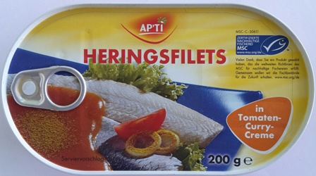 Apti Hering Filets TomatoCurry 200gr(18)