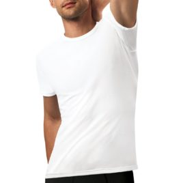 ND gents Cotton 3D Flex White Tshirt 6L