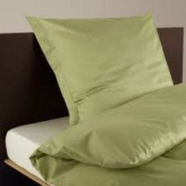 duvet set satin plain single green CH