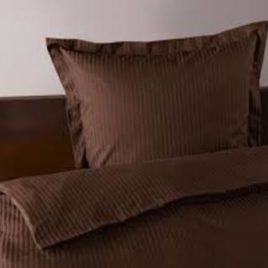 Duvet set  satin  single plain brown PL