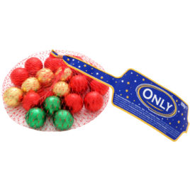 Only Christmas milk choc balls 100g (24)