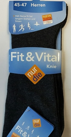 ND gents fit&vital knee socks grey 45-47