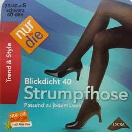 ND blickdicht 40D black 38/40 S