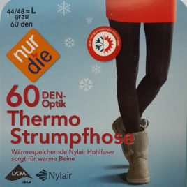 ND Thermo tights 60D grey 44/48 L