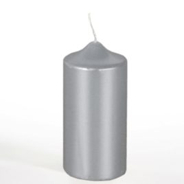 Pillar Candle   60 mm ú 130 mm silver